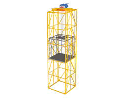 Goods Lift with wire rope hoist